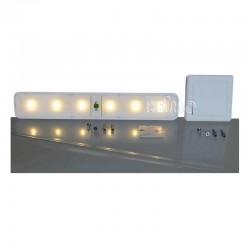 LED лампа, с дистанционен превключвател, 4AA/3AA батерии, 6 светодиода