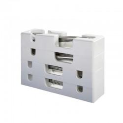 """Кутия за прибори за хранене """"Purvario"""", 4 части, бяла"""