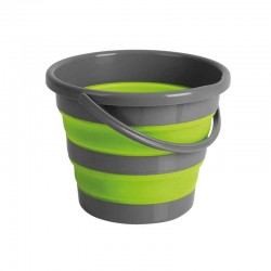 Кофа сгъваема 10L, сиво/зелено
