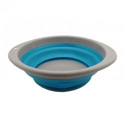 Купа сгъваема 23,5cm, сиво/синьо