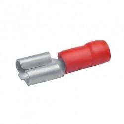Авто - конектор женски 4,8x0,5 за 0,5 - 1,0 mm² - червен