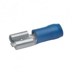 Авто - конектор женски 4,8x0,5 за 1,5 - 2,5 mm² - син