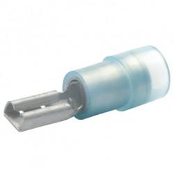 Авто - конектор женски 2,8x0,5 за 1,5 - 2,5 mm² - син