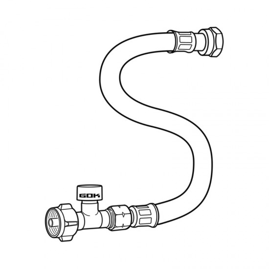 Маркуч газов Caramatic ConnectDrive 450 мм, G.12 (KLF)