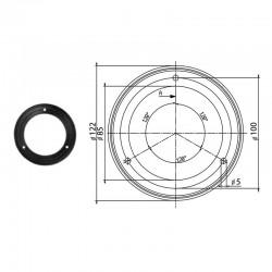 Уплътнение за филтър, гумено, 123x84mm, черно