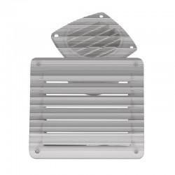 Решетка вентилационна, бяла, 142x80mm, ъглова