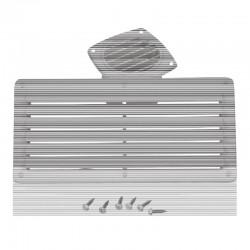 Решетка вентилационна, бяла, 264x127mm, ъглова