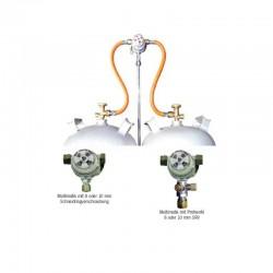 Система за две газови бутилки, 30mbar, изход 10mm