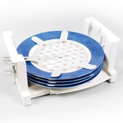 Поставка за чинии с гумени подложки