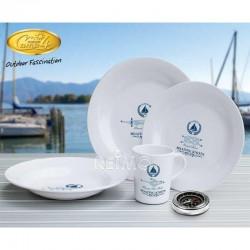 """Комплект за хранене """"Maritime"""" от меламин с допълнително закрепване, за 2 души"""
