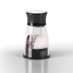 Мелничка за сол и черен пипер, 2 в 1, черна, с винтов капак