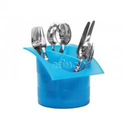 Поставка за прибори, пластмасова, синя, Ø14 x H15cm