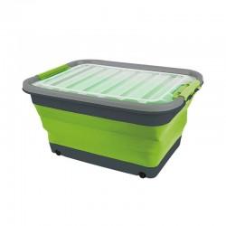 Кутия сгъваема с капак и колелца, 30л, 54,5 x 39,7 x 9,6 / 27,5cm